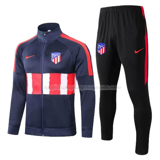 jacket atletico de madrid blu navy 2020-21