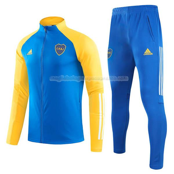 jacket boca juniors blu-giallo 2020-21